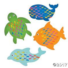 Sea Life Weaving Mats - OrientalTrading.com