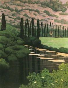 Paysage Marsillac by Félix Vallotton Pierre Bonnard, Whistler, Landscape Art, Landscape Paintings, Kunst Online, Paintings I Love, Toulouse, European Paintings, Henri Rousseau