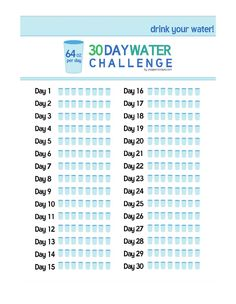 30 Day Water Challenge!! Would you try it? Drinking 64 ounces of water a day doesn't sound TOO hard.