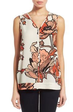 Pleione Sleeveless V-Neck Top (Regular & Petite) available at #Nordstrom