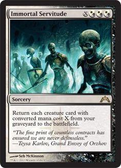 Immortal Servitude x4 Magic the Gathering 4x Gatecrash mtg rare card lot rare