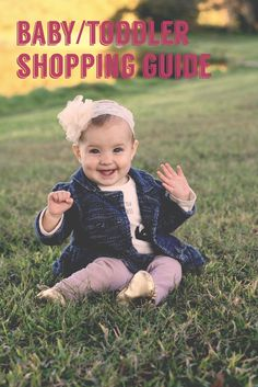 Blog post about fashionable kids on a budget. Baby and toddler shopping guide