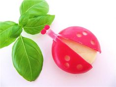 Babybel lady bugs....I've seen so many designs made out of these Cheese balls...