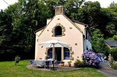 Bretagne Ferienhaus Mühle mit Pool