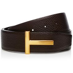 T Icon Belt ❤ liked on Polyvore featuring accessories, belts and reversible belt