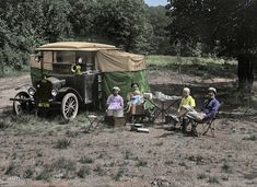 Shorpy Historical Photo Archive :: Auto-Campers (Colorized): 1920