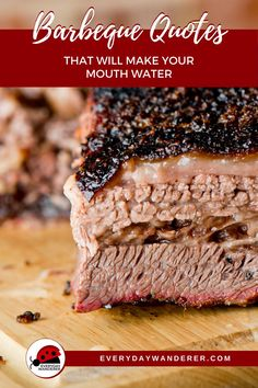 Barbeque quotes that will inspire you to try all of the regional barbecue styles -- Carolina BBQ like pork ribs with BBQ rub, Memphis BBQ like BBQ ribs, Kansas City barbecue like burnt ends, and Texas barbecue like Texas brisket. Some are funny BBQ quotes and others are spicy like bbq sauce.