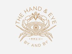 Illustartion Logo || The Hand and Eye is a blog that covers makers and creative entrepreneurs run by John Peabody. He'll soon be offering a few products online, collaborations with designers and makers, and asked me to design a shirt for him. Brian Steely
