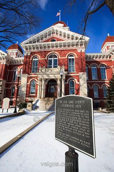 Lake County Courthouse, Crown Point, Indiana ~ built in 1878 and nicknamed The Grand Old Lady | Paul Velgos Photography