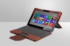 Amazon.com: Exact Microsoft Surface Pro 3 Case [SUITE Series] - Slim PU Leather Portfolio Case for Microsoft Surface Pro 3 Brown: Electronic...