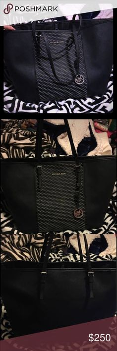 Michael Kors studded tote Used a few times but no damage to the bag. Great for a tote, everyday or diaper bag. Rare piece. Open to reasonable offers Michael Kors Bags Totes