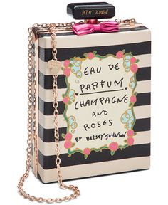 Betsey Johnson Perfume Shoulder Bag - The Art-Inspired Bag - Handbags & Accessories - Macy's Unique Handbags, Unique Purses, Unique Bags, Cute Purses, Purses And Handbags, Gucci Purses, Pink Handbags, Stem Challenge, Novelty Bags