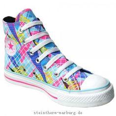 Converse Chuck Taylor Schuhe All Star Chucks 107124 Pink Weiss Neon Gelb HI