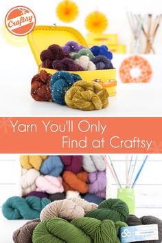 We wanted to let you know about these stunning skeins because you can't find them anywhere else. What would you like to make with these Craftsy-exclusive yarns?