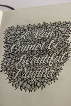 Fantastic lettering from Matthew Crouch. Check out the whole sketchbook to see his different works !