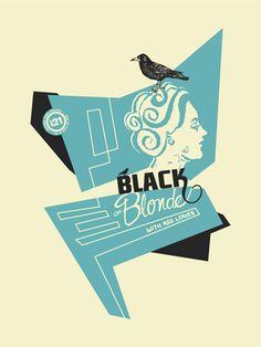 black on blonde