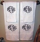 Monogrammed Bath Towels $25.99    2012 Wedding Event: Marley Lilly [Review] | Wee Share
