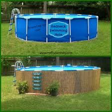 above ground pool landscape designs - Google Search