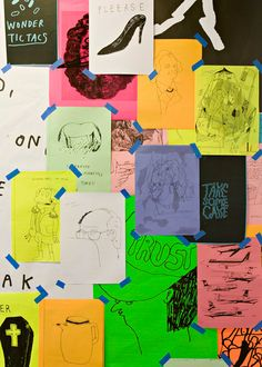 c0d0c0157 idea doodles on colored paper collaged with washi tape--way cooler than a  bulletin board. Lukas Fraser · stefan marx