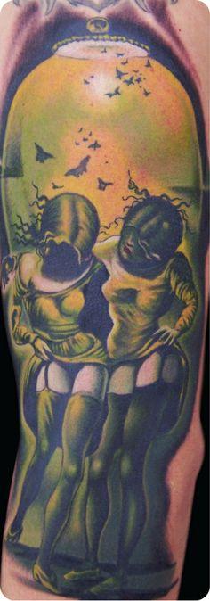 Skull illusion piece by John Wayne  #InkedMagazine  #cool  #illusion  #tattoos #inked #tattoo #art #ink #stream