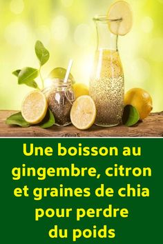 Une boisson au gingembre, citron et graines de chia pour perdre du poids Quotes And Notes, Anti Cellulite, Detox Recipes, Get In Shape, Keto, Reading, Food, Miracle, Fitness
