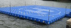 Incodock floating docks can be used for constructing floating helipads for…