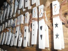 "Booth #555: Snowmen ""clothespin"" Magnets"
