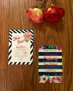 Infusing your personality in every detail of your wedding starts with the invitations.  Order yours via etsy from the link below.   https://www.etsy.com/listing/268585265/bubbly-brunch-floral-watercolor-lace  Please like and share my Facebook page also  www.facebook.com/erinmizedesigns