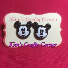 Mickey Mouse Perler Bead Earrings
