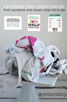 Laundry Tips from Someone Who Knows What Not to Do  - printables