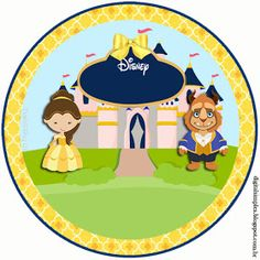 Kit Imprimible GRATIS Bella y Bestia Princess Belle Party, Princess Birthday, Beauty And The Beast Party, Belle Beauty And The Beast, Adornos Halloween, Prince Party, Party Needs, Gift Tags Printable, Disney Crafts