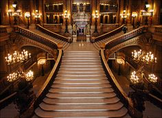 I would love to make an entrance descending these stairs in a fabulous gown.