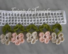 Order brides Eve Algeria largest compilation of adorn Eroha - Forums Eve Algeria Crochet Boarders, Crochet Lace Edging, Crochet Stitches Patterns, Love Crochet, Irish Crochet, Crochet Designs, Crochet Doilies, Crochet Flowers, Crochet Trim