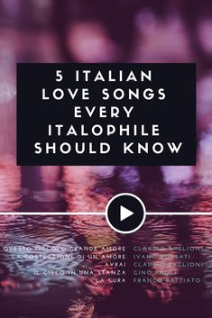 Do Italians listen to pop opera singers and to mushy songs? Is every Italian love song dedicated to one's lover? Let's debunk some myths! Learn Italian Fast, Learn To Speak Italian, Italian Language, Foreign Language, Italian Phrases, Italian Sayings, Italy Vacation, Italy Travel, Famous Italian Songs