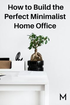 As the world shifts to a work from home culture, it becomes harder for many of us to find the space that we need to thrive in our work. In this home office guide, we'll walk through how to clear space, pick the right office design, include the right items in your office and more. Minimalist House Design, Minimalist Kitchen, Minimal Design, Dark Paint Colors, Improve Productivity, Mesh Office Chair, Office Essentials, Office Environment, Home Trends