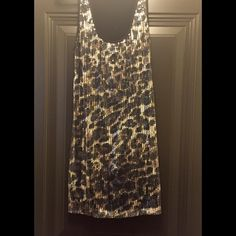 Animal Print Sequin Dress Animal Print Sequin Charlotte Russe Mini- Dress. Back of dress is solid black. Perfect for going out. XL. Charlotte Russe Dresses Mini