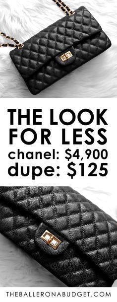 a5c5bb6b97 Designer Dupe by Ainifeel: Chanel Medium Classic Flap Bag – $4,900 vs. $125