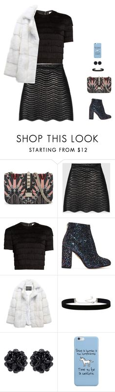 """""""glam rock"""" by candynena228 ❤ liked on Polyvore featuring Valentino, Gucci, Raey, Charlotte Olympia, Lilly e Violetta, 2028 and Simone Rocha"""