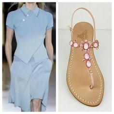 Dopo l'intramontabile abbinamento  bianco e blu, vi proponiamo i due colori in voga per l'estate 2016. Dea Sandals Capri Style Sandali gioiello personalizzati www.deasandals.com  #sandalicapri #sandali #gioiello #shoes #capristyle #sandaligioiello #sandalflat #flipflop #jewerlysandals #outfit #fashion #sandalipositano #sandalirosa #summer #beachweare #caprisandals #fashionstyle #vogue #italianstyle #madeinitaly #deasandals