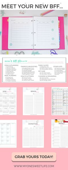 The Mom's BFF Planner includes over 33 different printables designed to help you with project management, planning, finances, and more. Bill Payment Printable | Monthly Budget Printable | Monthly Expenses Printable | Monthly Income Printable | Finance Tracker Printable #planner #planning #lifegoals