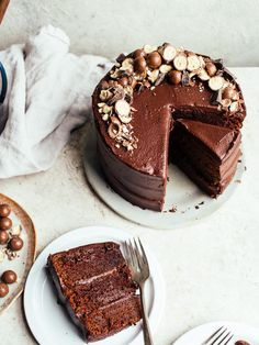 double chocolate malt cake