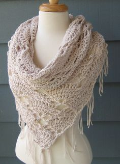 ELVIRA Triangle Cowl Scarf Shawl Wrap by by ArtsyCrochet on Etsy, $45.00