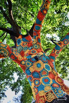 trees with yarn - Google Search