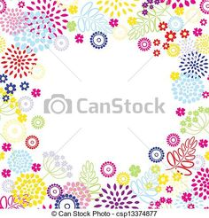 Bright flowers frame. - csp13374877