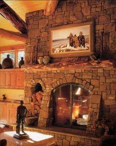 Old World Style Custom Fireplace