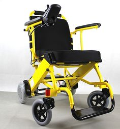 PW-999UL is the lightest and smallest power electric wheelchair in the world. It weighs only 20kg including the Li-ion battery pack and can be folded to very compact size in just 3 seconds. Top speed 6km/hr and drives 15KM before recharging.