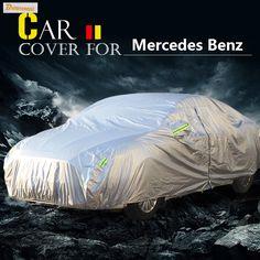 Buildreamen2 Car Cover Sun Snow Rain Dust Scratch Resistant Waterproof Cover For Mercedes Benz C Class C260 C280 C300 C320 C350