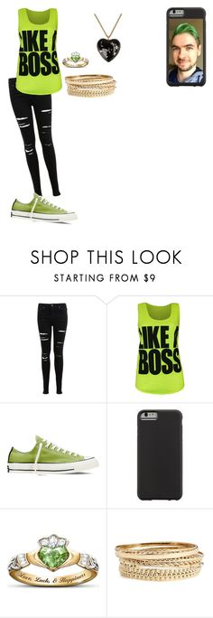 """Jacksepticeye #3"" by rholton on Polyvore featuring Miss Selfridge, WearAll, Converse, Case-Mate, The Bradford Exchange, BP. and Moschino"
