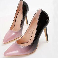 Fashionable Gradually Changing Color Stiletto-heel Stiletto Heels from stylishplus.com