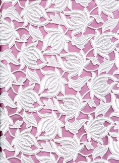 Venice (damask heavy lace w/open background, usually large floral leaf motif)